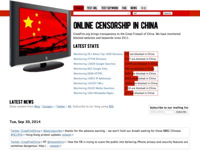 【あなたが見たいサイトは?】中国でブロックされているサイトが一発でわかる!